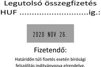 Szöveglemez Printer 55 Dátumbélyegzőhöz